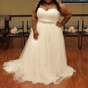 Plus David Bridals Wedding Dress